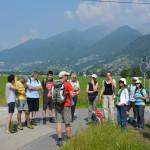 I partecipanti all'escursione 'La vittoria della terra sul lago!', © Cristian Scapozza