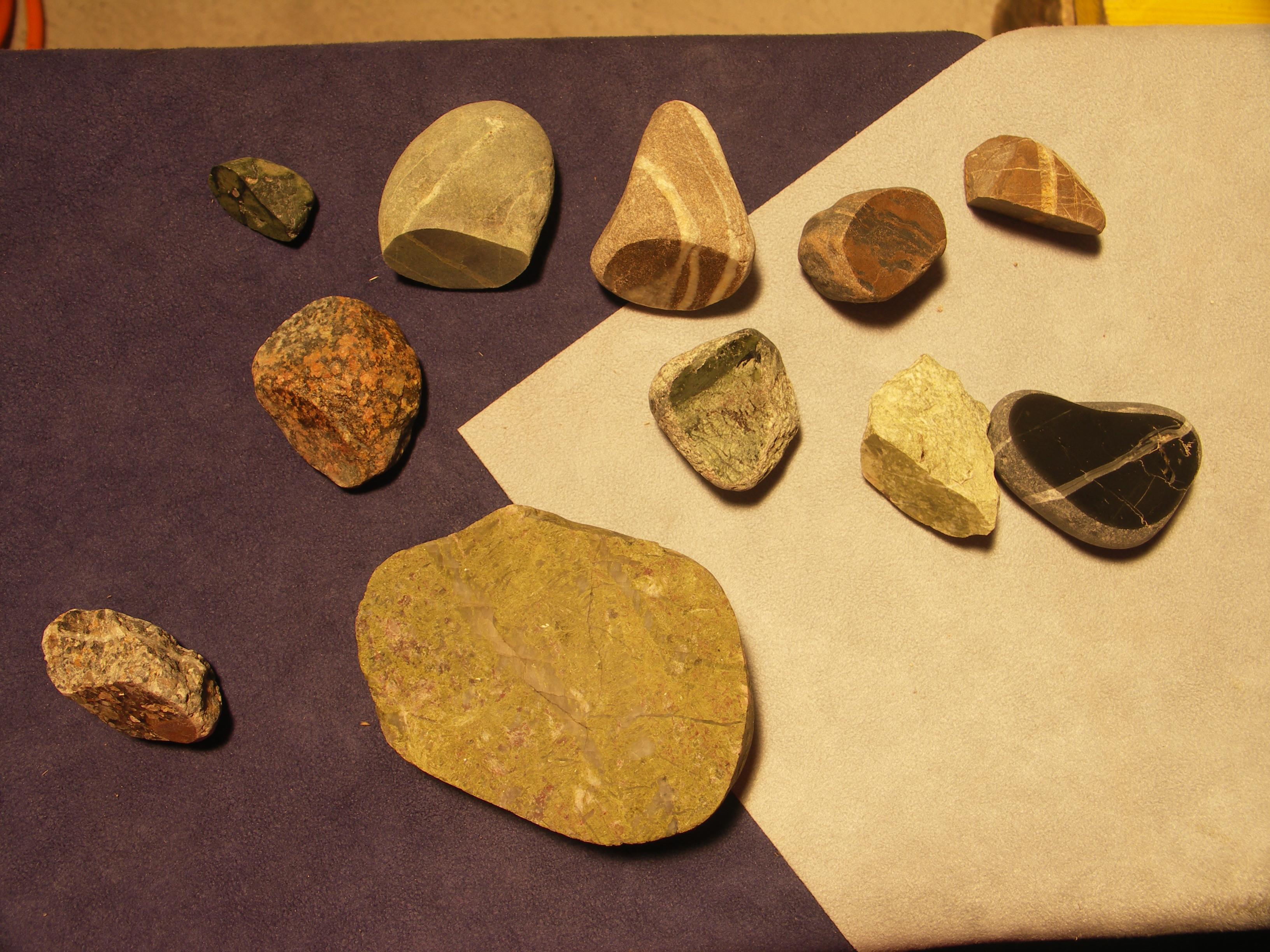 geschliffene Steine