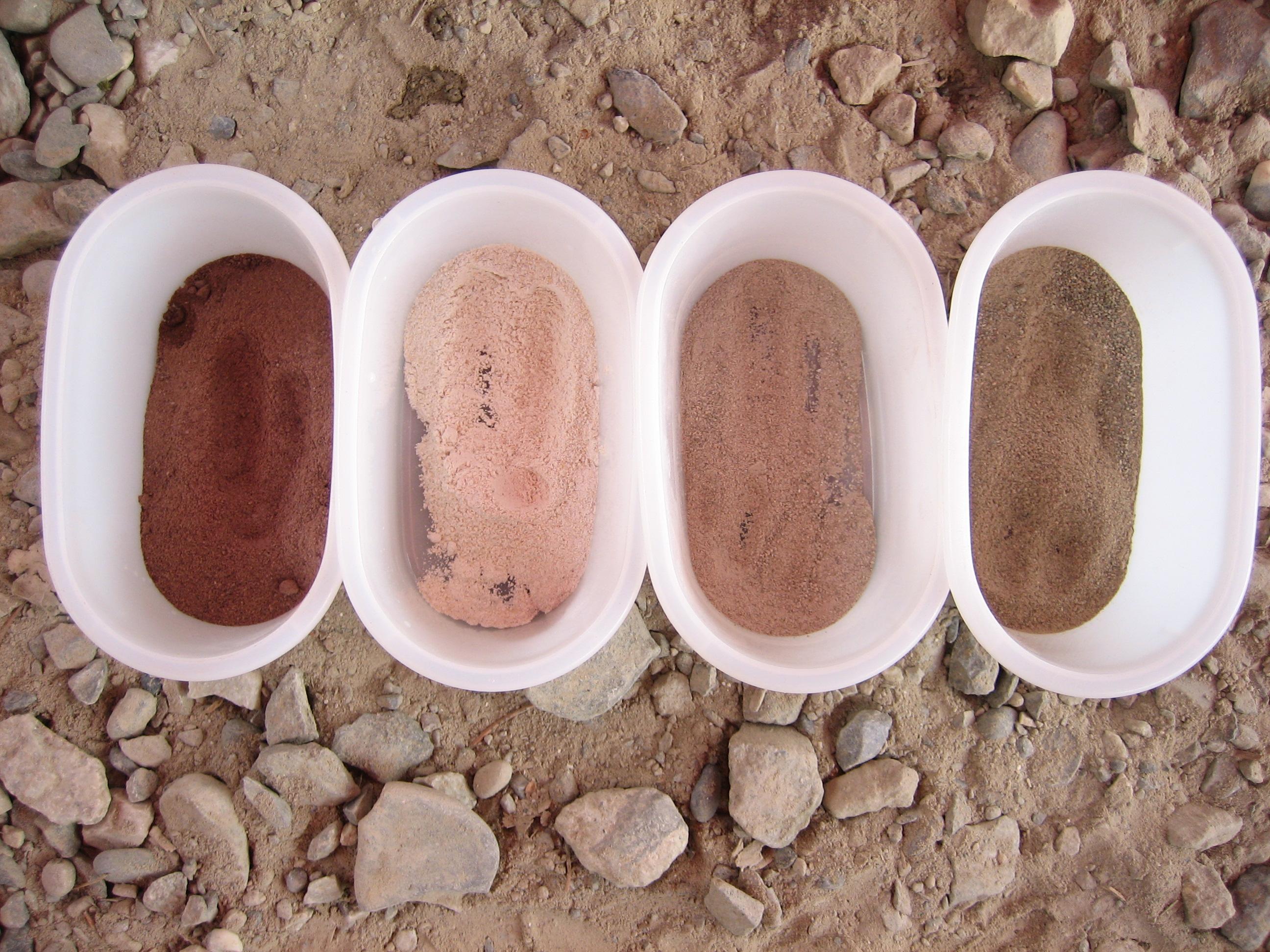 farbiges Steinpulver