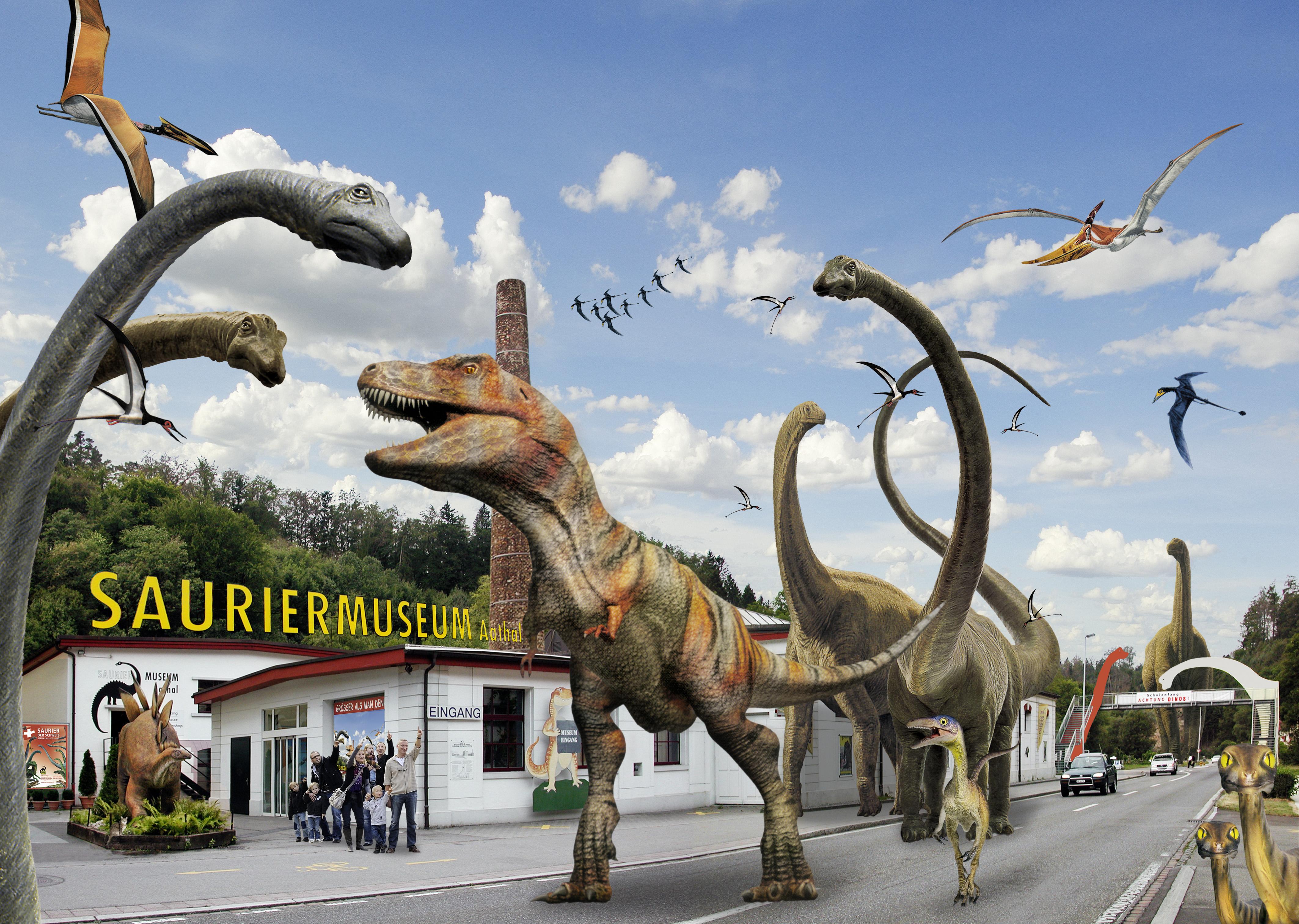 Dinosaurier besuchen Aathal