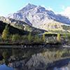 Vue du massif des Diablerets et du lac de Derborence